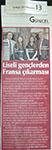 Yenigün Gazetesi 13 Mayıs 2013