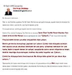 Habertürk Gazetesi 16 Eylül 2015